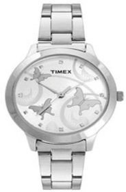 Timex Quartz White Dial Women Watch-TW000T606