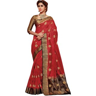 f8af832ad89d09 Buy Fashion Hub Red Raw Silk Saree Online - Get 40% Off