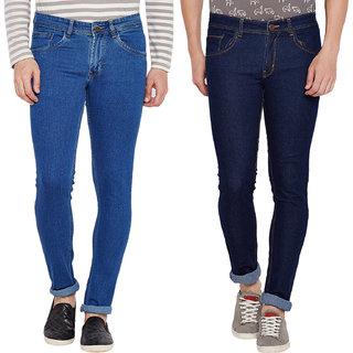 S.Premium Men's Slim Fit MultiColor Jeans- Pack Of 2