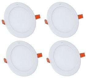 Alpha 12 Watt round  Ceiling LED Panel Light (Pack of 4 Lights)