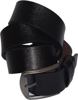 Mens Black Genuine Leather Belt