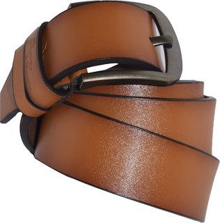 Mens Tan Genuine Leather Belt