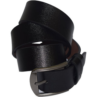Mens Black Genuine Leather Belt