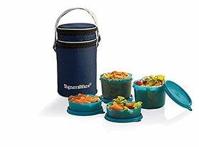 Signoraware Executive Lunch Box with Bag, Multi Color