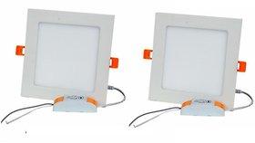Alpha 12 Watt Square Ceiling LED Panel Light (Pack of 2 Lights)