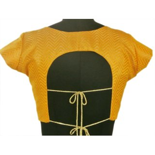 Stitch O Fab yellow Brocade women blouse-055 SOFybwb055