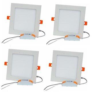 Alpha 12 Watt Square Ceiling LED Panel Light (Pack of 4 Lights)