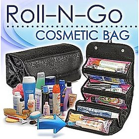 Roll N Go 4 In 1 Travel Buddy Cosmetic Shaving Toiletry Bag Jewellery Storage Organizer