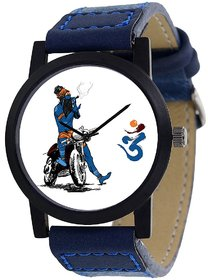 NEW BLUE STRAP WHITE DIAL SHIVAY TYPE ANLOGE  WATCH FOR BOYS 6 MONTH WARRANTY