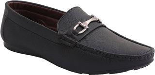 Stylos Men's Black 1510 Loafer Shoes