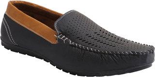 Stylos Men's Black 1518 Loafer Shoes