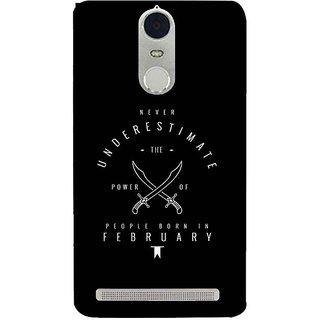 YuBingo Lenovo K5 Note Vibe Pro Designer Phone Back Case Cover Never Underestimate PeopleBorn In February