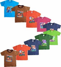 Jisha Fashion Round Neck Half Sleeves Tshirt for boys(HMANIS10) ( Combo of 10 )