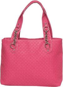 Pink Color Elegant Trendy Handbag Shoulder Bag Purse Fo