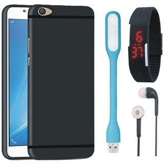 Motorola Moto G5 Plus Sleek Design Back Cover with Digital Watch, Earphones and USB LED Light