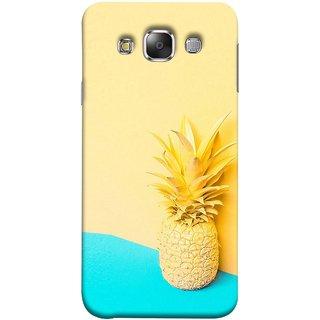 FUSON Designer Back Case Cover for Samsung Galaxy E5 (2015)  :: Samsung Galaxy E5 Duos :: Samsung Galaxy E5 E500F E500H E500Hq E500M E500F/Ds E500H/Ds E500M/Ds  (Light Yellow Cream Pineapple Lamp Ananas)