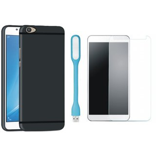 Motorola Moto G5s Stylish Back Cover with Tempered Glas and USB LED Light