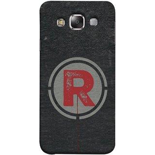 FUSON Designer Back Case Cover for Samsung Galaxy E5 (2015)  :: Samsung Galaxy E5 Duos :: Samsung Galaxy E5 E500F E500H E500Hq E500M E500F/Ds E500H/Ds E500M/Ds  (Dark Alphabet Circle Vintage Grey Circle Pattern R)