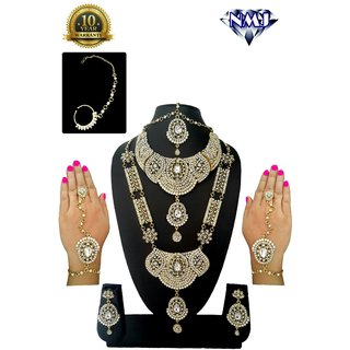 NMJ Gold Plated Designer Dulhan Set With 8 Items
