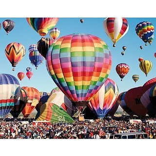 Albuquerque Balloon Fiesta - 300 Piece Jigsaw Puzzle Colorluxe Series by Lafayette Puzzle Factory