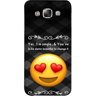 FUSON Designer Back Case Cover for Samsung Galaxy E5 (2015)  :: Samsung Galaxy E5 Duos :: Samsung Galaxy E5 E500F E500H E500Hq E500M E500F/Ds E500H/Ds E500M/Ds  (Damn Beautiful To Change It Hearts Love Pure Smiley)