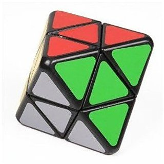 Lanlan 4-axis Octahedron Cube Puzzle Diamond Shape . Black