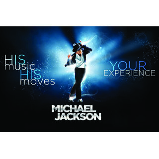 EJA Art  Michael Jackson_P1 Without Frame Paper Poster Size 30X45 cms (With 12 Butterfly Free)