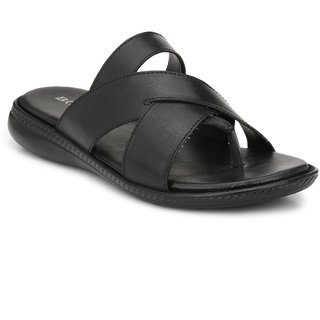 Boggy Confort Black Slip On Sandal