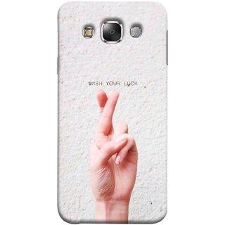 FUSON Designer Back Case Cover for Samsung Galaxy E5 (2015)  :: Samsung Galaxy E5 Duos :: Samsung Galaxy E5 E500F E500H E500Hq E500M E500F/Ds E500H/Ds E500M/Ds  (Always Wish You Best Success Happy Palm )