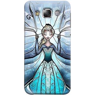 FUSON Designer Back Case Cover for Samsung Galaxy E5 (2015)  :: Samsung Galaxy E5 Duos :: Samsung Galaxy E5 E500F E500H E500Hq E500M E500F/Ds E500H/Ds E500M/Ds  (The Blue Rose Doll Baby Girl Nice Dress Long Hairs )