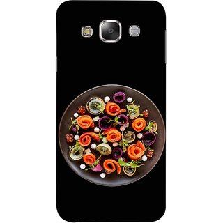 FUSON Designer Back Case Cover for Samsung Galaxy E5 (2015)  :: Samsung Galaxy E5 Duos :: Samsung Galaxy E5 E500F E500H E500Hq E500M E500F/Ds E500H/Ds E500M/Ds  (Vegetables Mashrooms Kitchen Best Food Tasty)