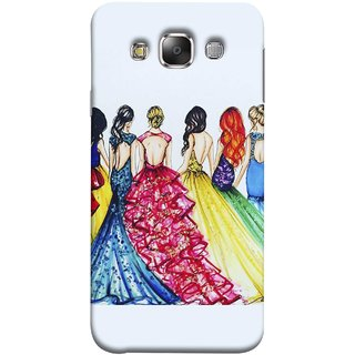 FUSON Designer Back Case Cover for Samsung Galaxy E5 (2015)  :: Samsung Galaxy E5 Duos :: Samsung Galaxy E5 E500F E500H E500Hq E500M E500F/Ds E500H/Ds E500M/Ds  (Backless Prom Dress Gowns Dolls Curly Hairs Long)