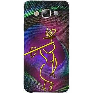 FUSON Designer Back Case Cover for Samsung Galaxy E5 (2015)  :: Samsung Galaxy E5 Duos :: Samsung Galaxy E5 E500F E500H E500Hq E500M E500F/Ds E500H/Ds E500M/Ds  (Vintage Art Krishna Water Color Painting Murli)