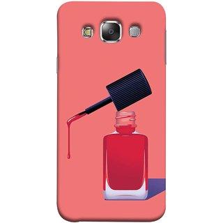 FUSON Designer Back Case Cover for Samsung Galaxy E5 (2015)  :: Samsung Galaxy E5 Duos :: Samsung Galaxy E5 E500F E500H E500Hq E500M E500F/Ds E500H/Ds E500M/Ds  (Beautiful Cute Nice Couples Pink Design Paper Girly)