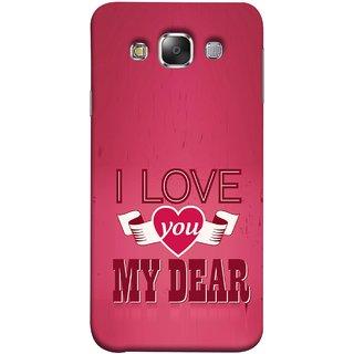 FUSON Designer Back Case Cover for Samsung Galaxy E7 (2015) :: Samsung Galaxy E7 Duos :: Samsung Galaxy E7 E7000 E7009 E700F E700F/Ds E700H E700H/Dd E700H/Ds E700M E700M/Ds  (Pyar Hai Tumse Heart Pink Red True )