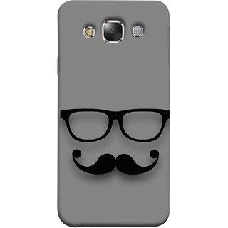 FUSON Designer Back Case Cover for Samsung Galaxy E5 (2015)  :: Samsung Galaxy E5 Duos :: Samsung Galaxy E5 E500F E500H E500Hq E500M E500F/Ds E500H/Ds E500M/Ds  (Mustache Glasses T-ShirtYoung Boys Back Cover)