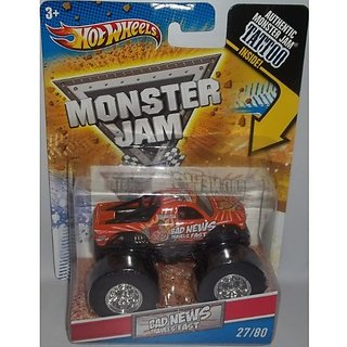 Hot Wheels Monster Jam 1:64 Bad News Travels Fast Tattoo Series