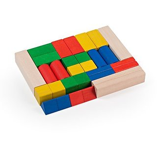 Milani Colored Building Blocks Set, 30-Piece
