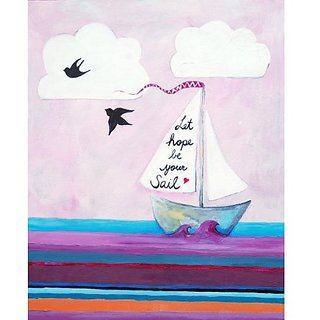 Cici Art Factory Paper Print Wall Hanging, Let Hope Be Your Sail