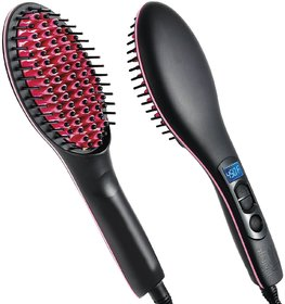 2 In 1 Ceramic Hair Straightener Brush Simply Straight