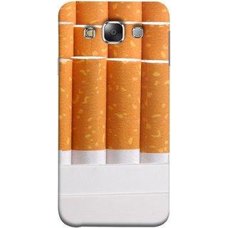 FUSON Designer Back Case Cover for Samsung Galaxy E7 (2015) :: Samsung Galaxy E7 Duos :: Samsung Galaxy E7 E7000 E7009 E700F E700F/Ds E700H E700H/Dd E700H/Ds E700M E700M/Ds  (Cigarettes Case White Tobacco Foreign Lighter Light)