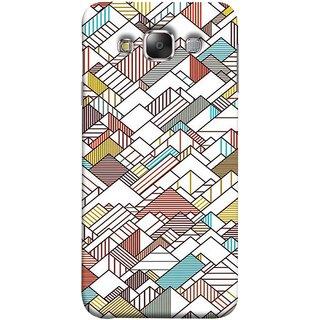FUSON Designer Back Case Cover for Samsung Galaxy E5 (2015)  :: Samsung Galaxy E5 Duos :: Samsung Galaxy E5 E500F E500H E500Hq E500M E500F/Ds E500H/Ds E500M/Ds  (Watercolor Horizontal Vertical Vector Lines Colourful)