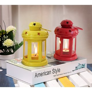 Heaven Decor Decorative Hanging Tealight Candle Holder Lantern Indoor outdoor Home Decoration for Gifts Set Of 2