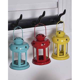 Heaven Decor  Hanging Tealight Candle Holder Lantern Indoor outdoor Home Decoration for Gifts Set Of 3