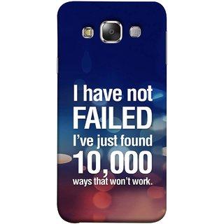 FUSON Designer Back Case Cover for Samsung Galaxy E7 (2015) :: Samsung Galaxy E7 Duos :: Samsung Galaxy E7 E7000 E7009 E700F E700F/Ds E700H E700H/Dd E700H/Ds E700M E700M/Ds  (Ten Thousand Ways That Won'T Work Creative Colours)