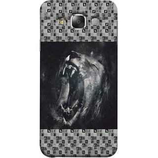 FUSON Designer Back Case Cover for Samsung Galaxy E7 (2015) :: Samsung Galaxy E7 Duos :: Samsung Galaxy E7 E7000 E7009 E700F E700F/Ds E700H E700H/Dd E700H/Ds E700M E700M/Ds  (Grey Canvas Wallpaper Grey Background Leopards)