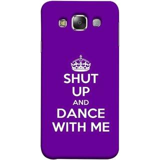 FUSON Designer Back Case Cover for Samsung Galaxy E7 (2015) :: Samsung Galaxy E7 Duos :: Samsung Galaxy E7 E7000 E7009 E700F E700F/Ds E700H E700H/Dd E700H/Ds E700M E700M/Ds  (Beautiful Music Musical Enjoy Party Good To Shut)