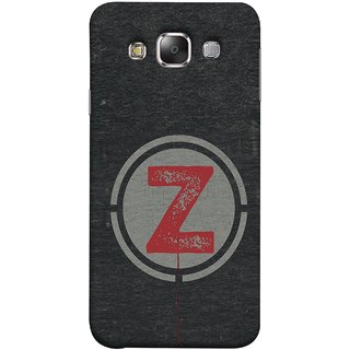 FUSON Designer Back Case Cover for Samsung Galaxy E7 (2015) :: Samsung Galaxy E7 Duos :: Samsung Galaxy E7 E7000 E7009 E700F E700F/Ds E700H E700H/Dd E700H/Ds E700M E700M/Ds  (Dark Alphabet Circle Vintage Grey Circle Pattern Z)