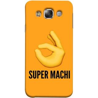 FUSON Designer Back Case Cover for Samsung Galaxy E7 (2015) :: Samsung Galaxy E7 Duos :: Samsung Galaxy E7 E7000 E7009 E700F E700F/Ds E700H E700H/Dd E700H/Ds E700M E700M/Ds  (Super Machi Video Song Allu Arjun Samantha)