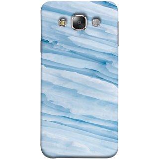 FUSON Designer Back Case Cover for Samsung Galaxy E7 (2015) :: Samsung Galaxy E7 Duos :: Samsung Galaxy E7 E7000 E7009 E700F E700F/Ds E700H E700H/Dd E700H/Ds E700M E700M/Ds  (Deep Grooves Side Blue Iceberg Floating Antarctic)
